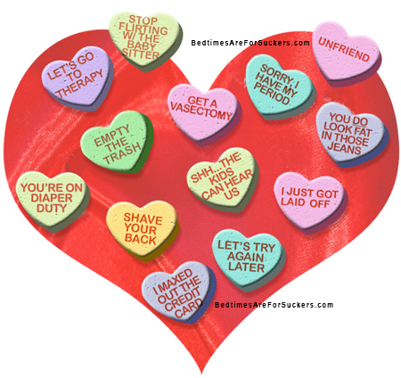 Ever seen those conversation hearts with the sickeningly sweet phrases like